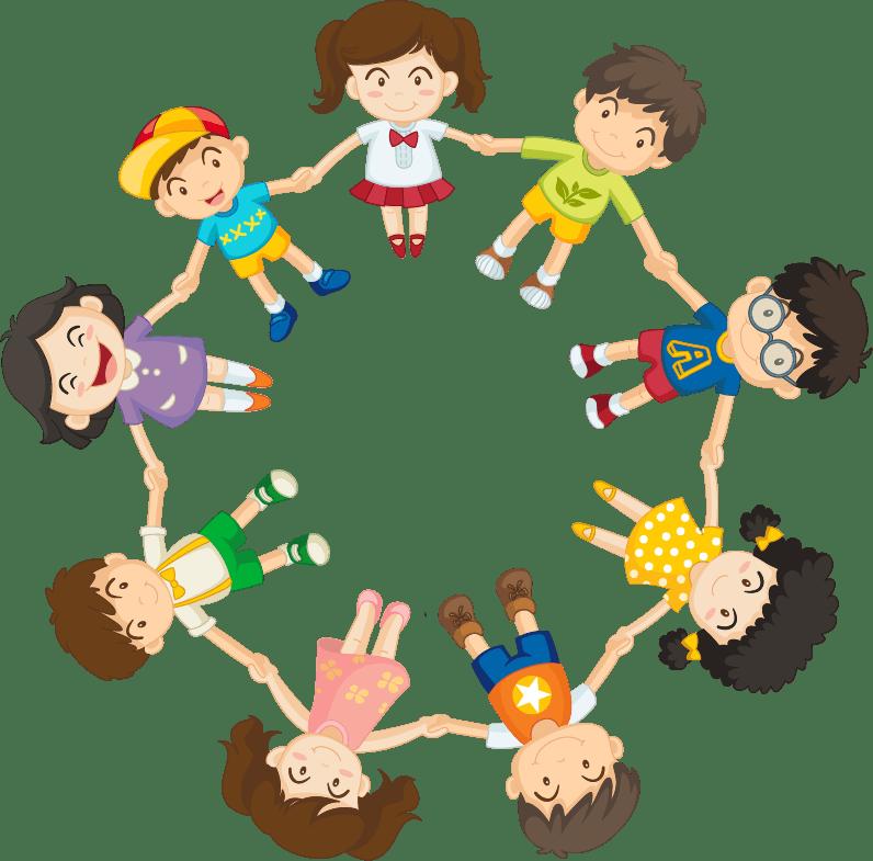 круг из детей